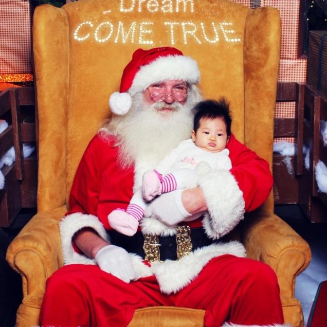 Baby E with Santa