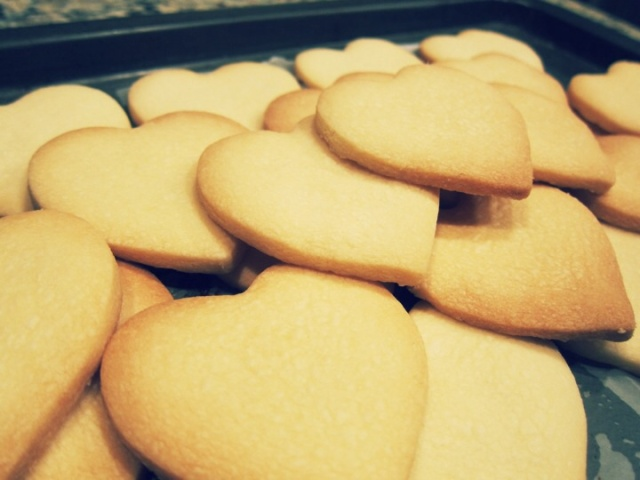 Fresh shortbread from the oven