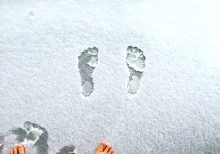 First footprints (J's)
