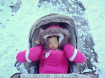 Baby E in parka
