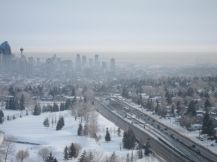 Mist over downtown Calgary