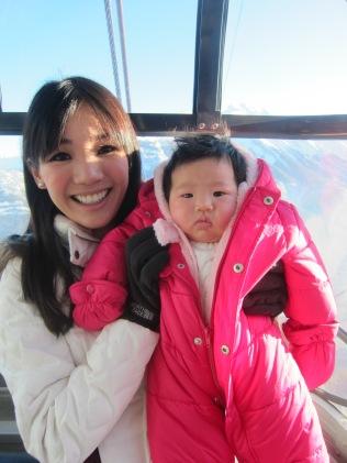 Baby E's 1st ride on a gondola