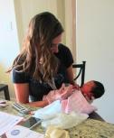 Her 1st nurse visit