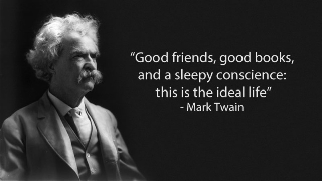 Mark Twain quote on friends