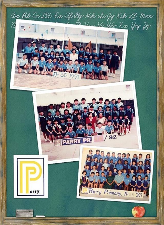 Primary school class photos collage