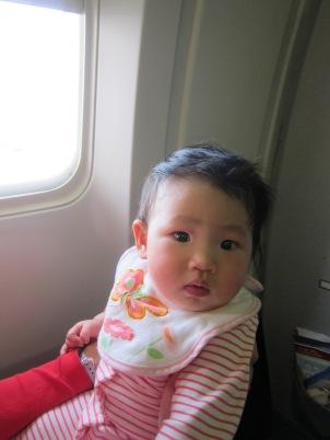 My calm baby on her 1st flight