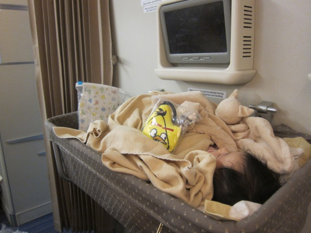 Baby E slept in SQ Bassinet