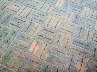 Names engraved on the ground