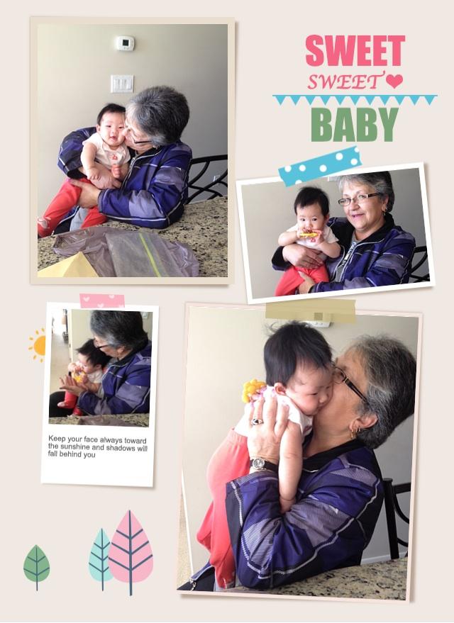 Connie loves baby E