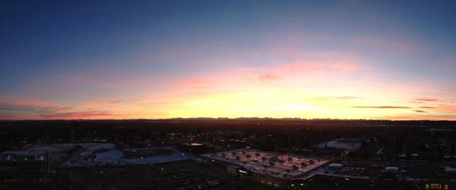 Sunset on 21 Jan 2014