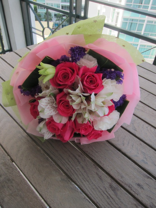 V day flowers in balcony