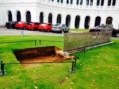 Plot of land excavated