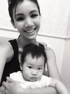 Baby E and I