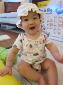 Baby E with her hat