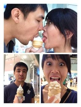 Sharing an ice-cream