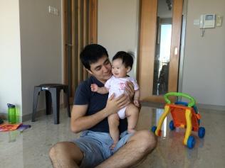 My bro with Baby E