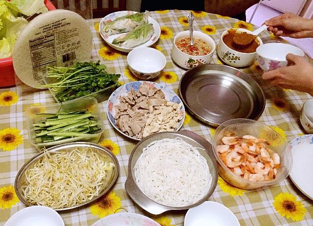 Vietnamese Spring Roll Spread
