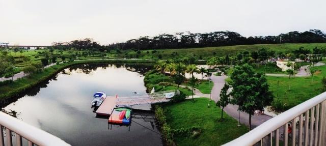 Panoramic view of Punggol Waterway Park