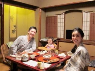 Family enjoying Keiseki dinner