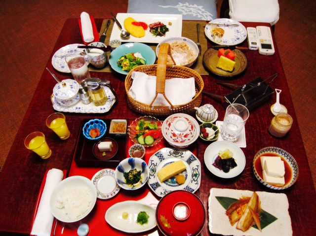 Sumptuous ryokan breakfast