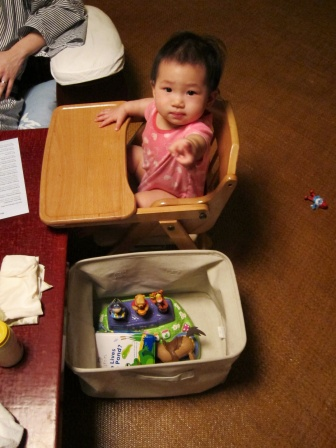 Box of toys for Baby E