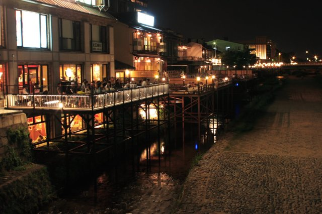 Kamo River dining