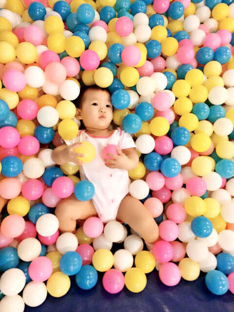 Baby E at the Giant Ball Pit