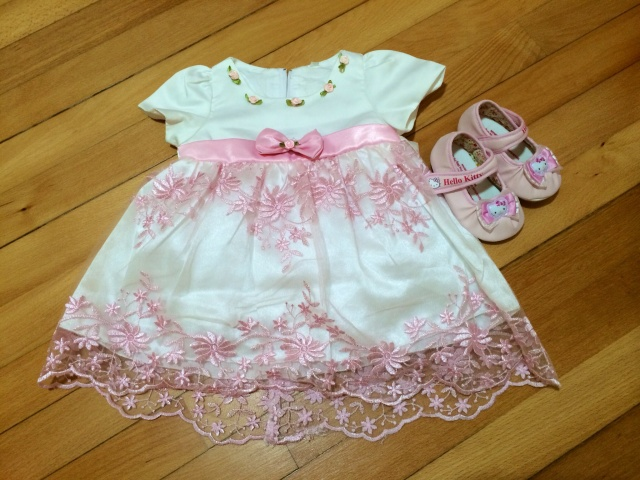 Baby E's birthday dress and shoes