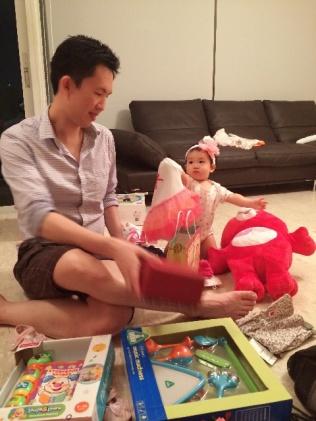 Daddy! It's a tutu onesie!