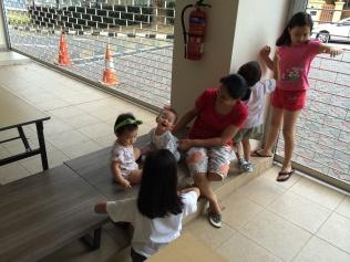 The children gather