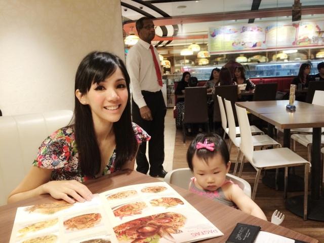 Large menu at Swensen's