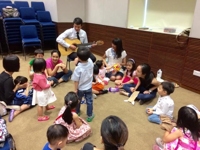 Children settling down