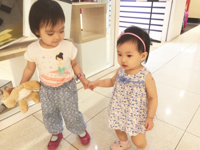 C and E holding hands
