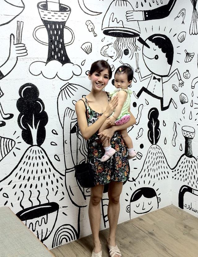 Wall Mural outside GRUB Noodle Bar