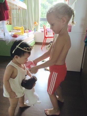 Ayko feeding E
