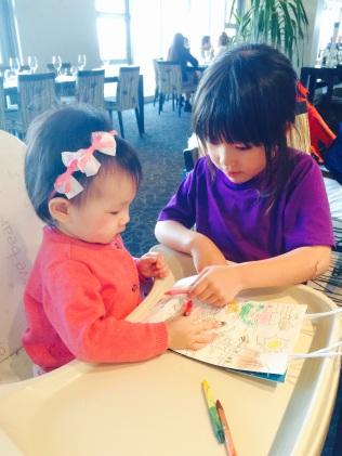 Daniella teaching E to colour