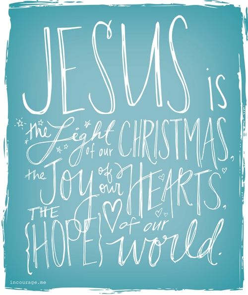 Jesus is Light, Joy, Hope