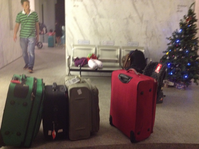 Luggage arrived at our lobby