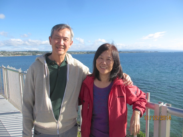 Mum and Dad at Lake Taupo
