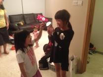 Bella and Daniella enjoying the cupcakes