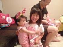 Daniella hugging Little E