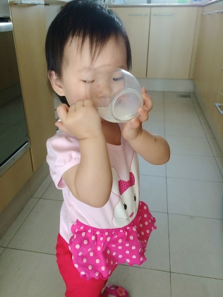 Drinking from a cup