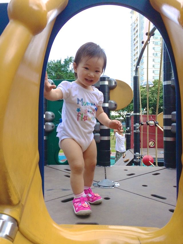 Little E at playground