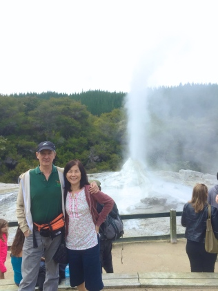 Dad and Mum at the geyser