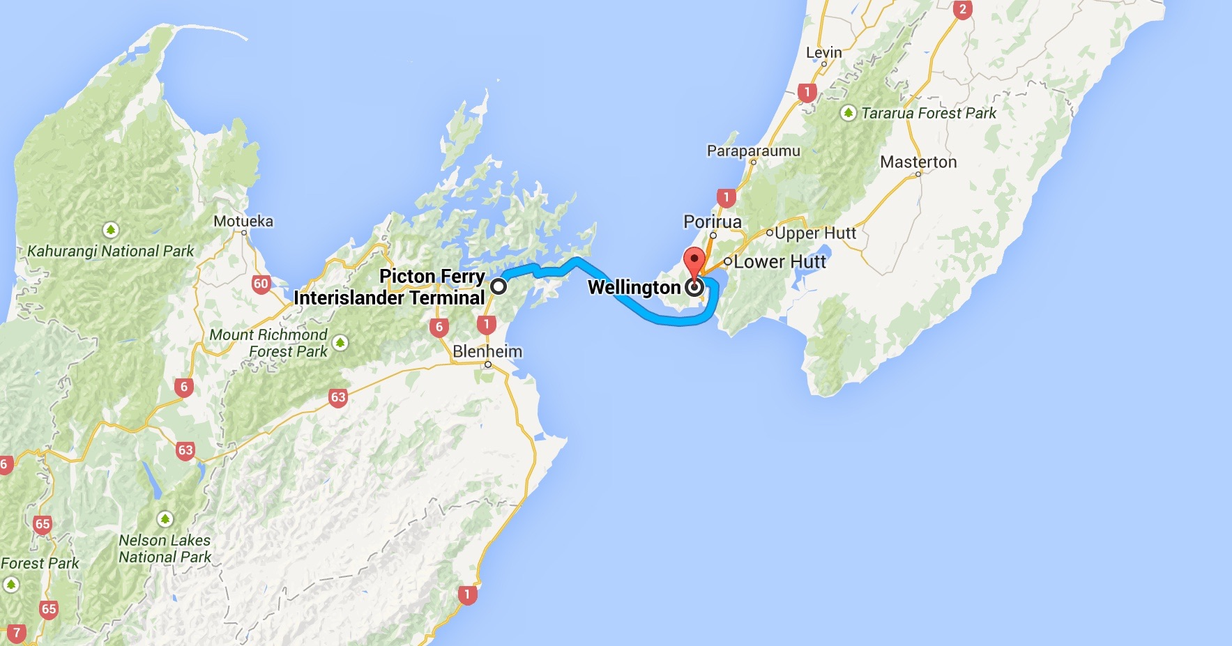Ferry Accross From North Island To South Island New Zealand