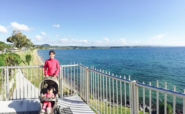 Me and Little E at Lake Taupo