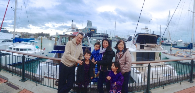 JMIDM with Dad and Mum in Viaduct Harbour