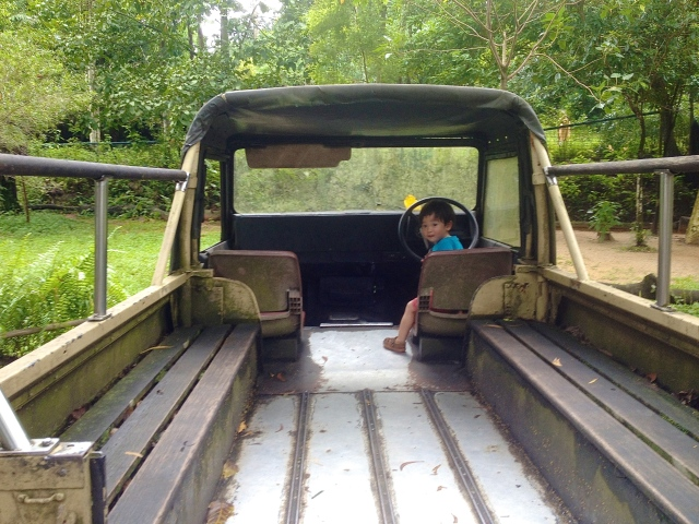 Matthew in outback truck