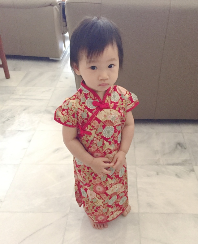 Little E in cheongsam