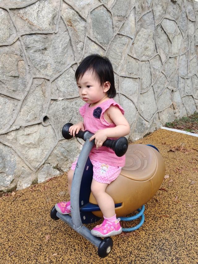 Little E in church playground